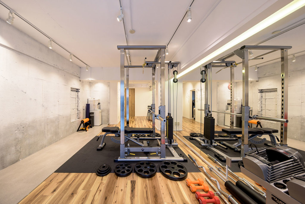 Personal training gym design