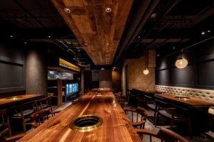 赤坂の焼肉店の店舗デザイン事例