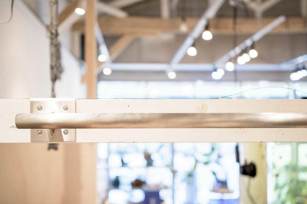 ステンレス製の懸垂器(取付け後)
